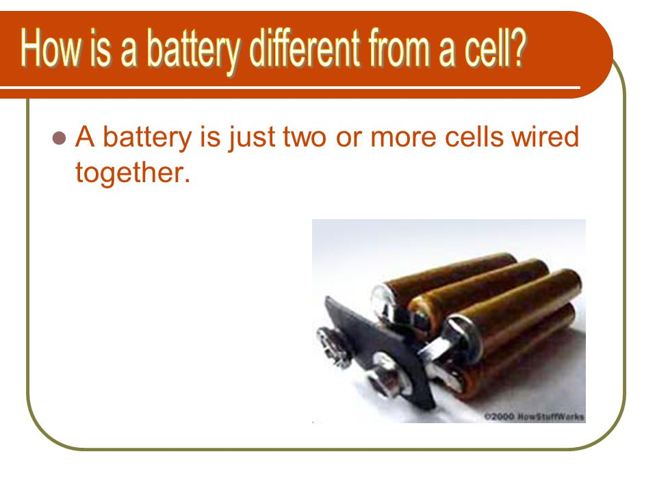 How is a battery different from a cell