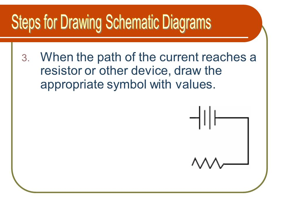 Steps for Drawing Schematic Diagrams