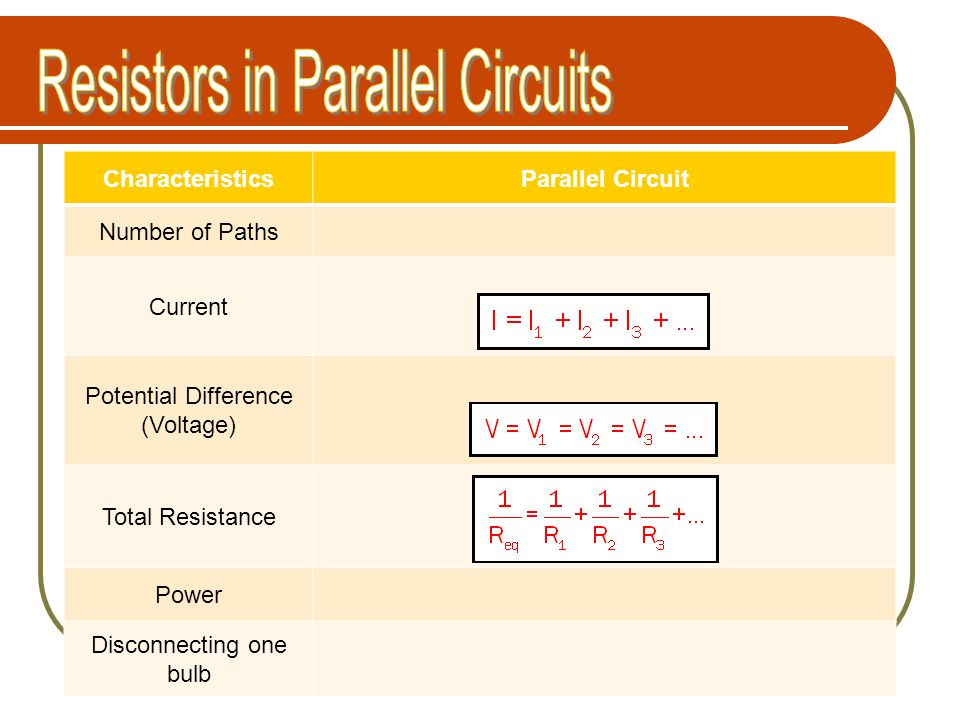Resistors in Parallel Circuits