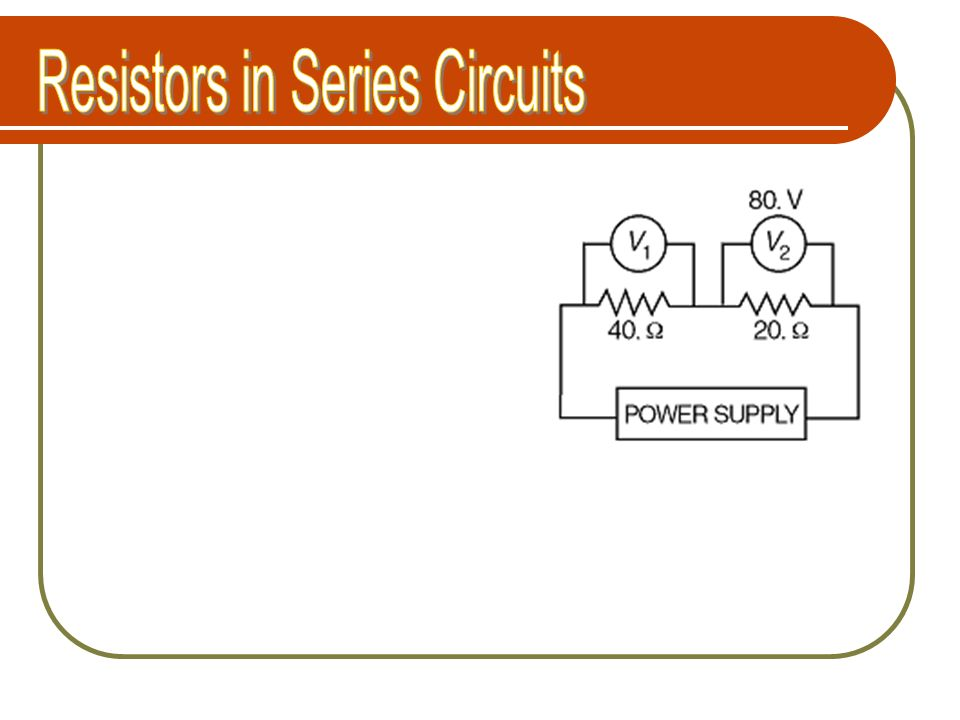 Resistors in Series Circuits