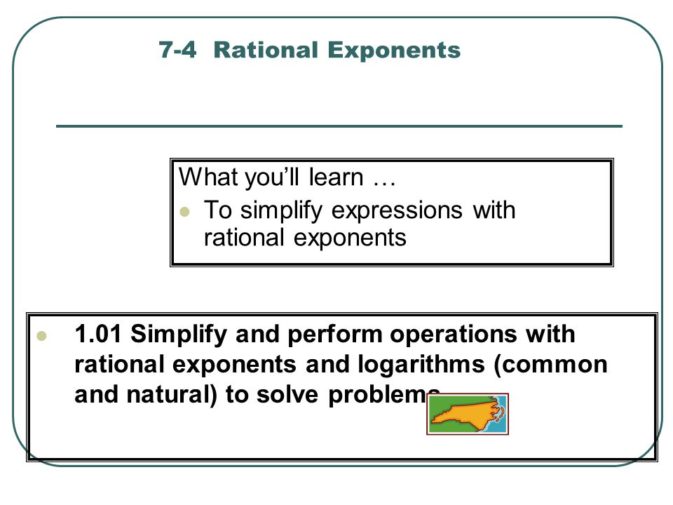 To simplify expressions with rational exponents