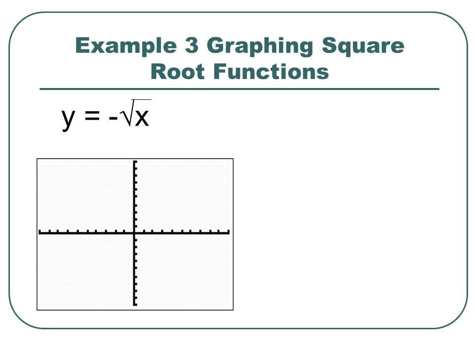 Example 3 Graphing Square Root Functions