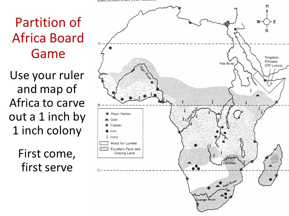 Partition of Africa Board Game