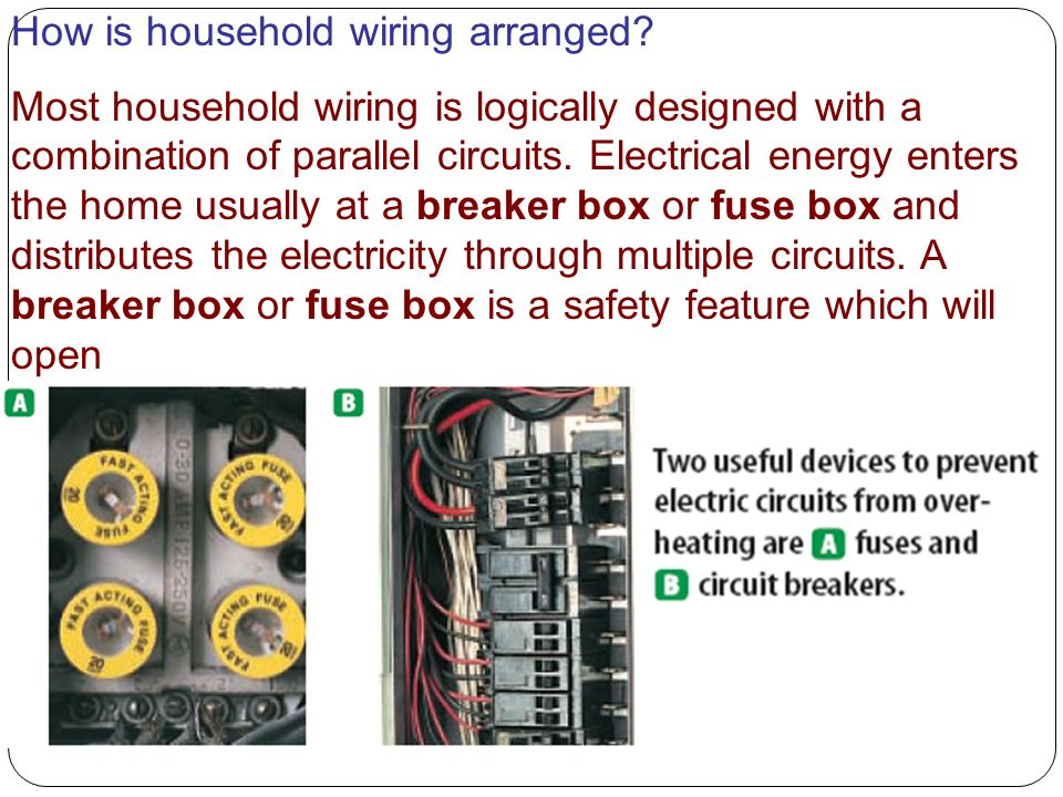 How is household wiring arranged