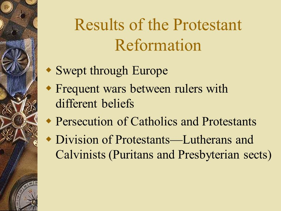 Results of the Protestant Reformation