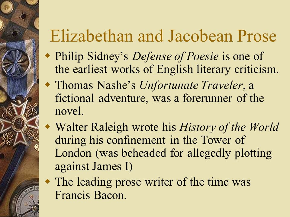 Elizabethan and Jacobean Prose