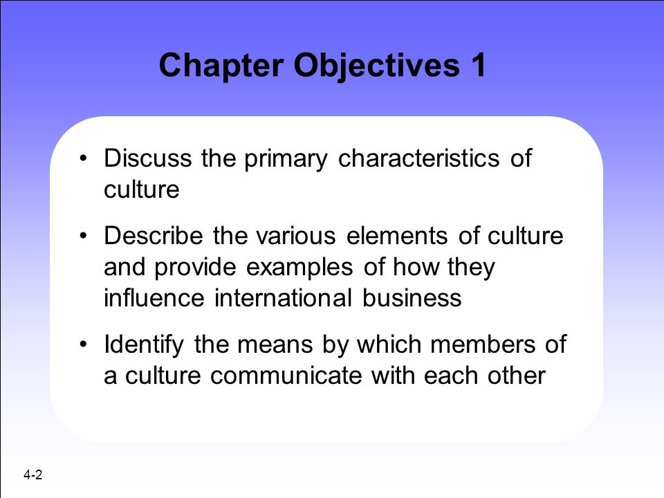 discuss the characteristics of culture