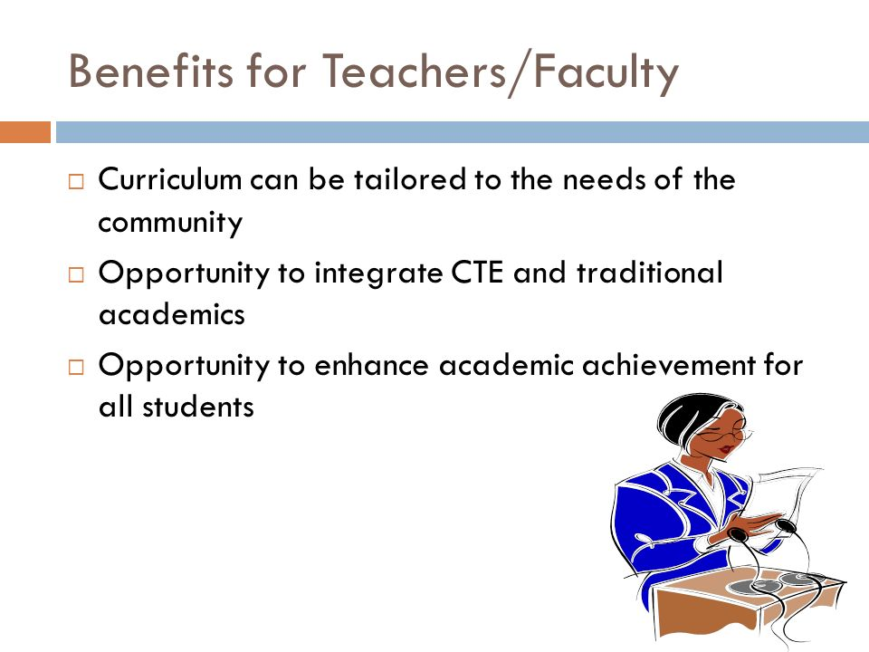 Benefits for Teachers/Faculty