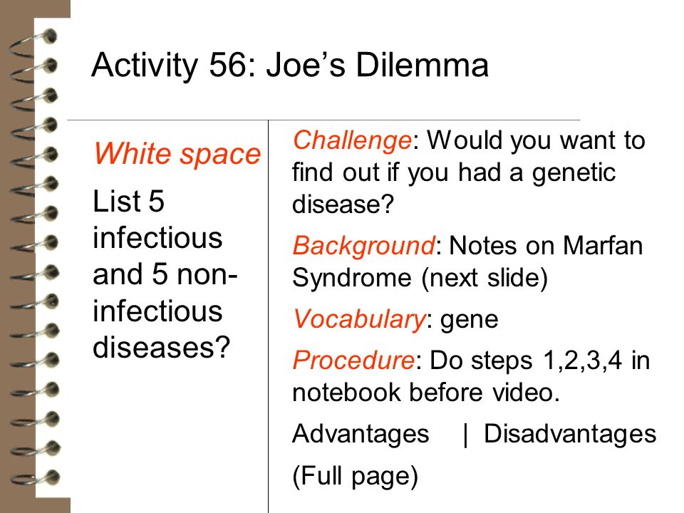 Activity 56: Joe's Dilemma