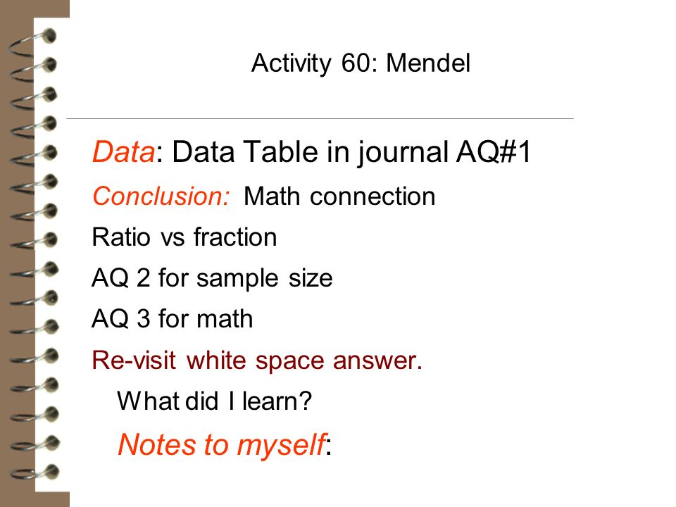 Data: Data Table in journal AQ#1