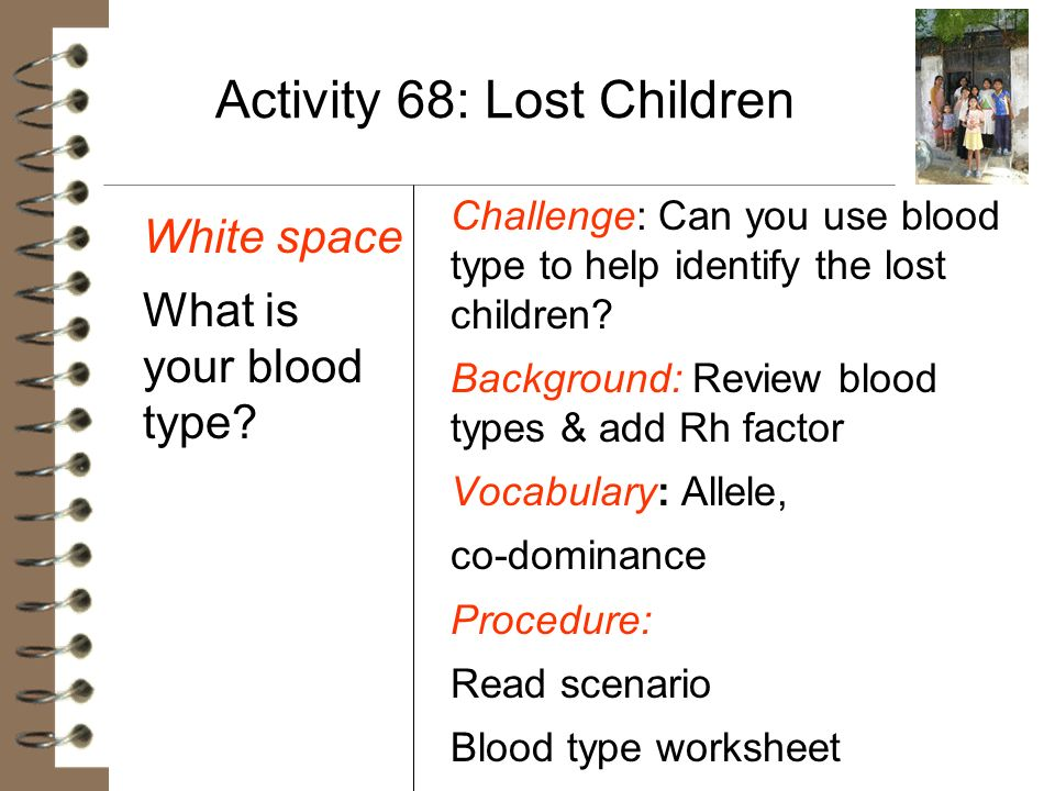 Activity 68: Lost Children