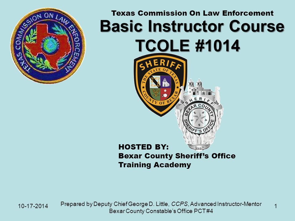 Basic Instructor Course Tcole Ppt Download