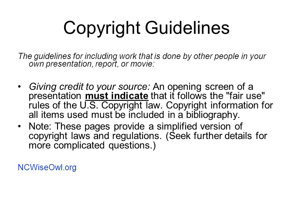 Information from ppt video online download for Copyright facts and information