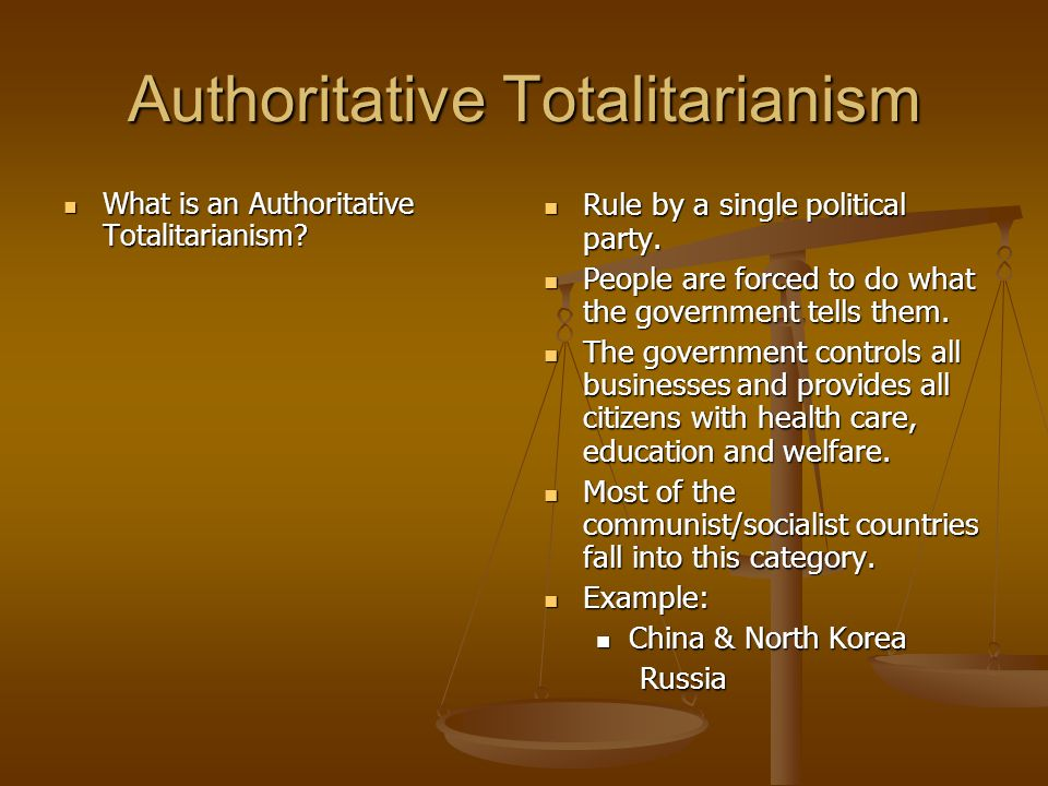 Authoritative Totalitarianism