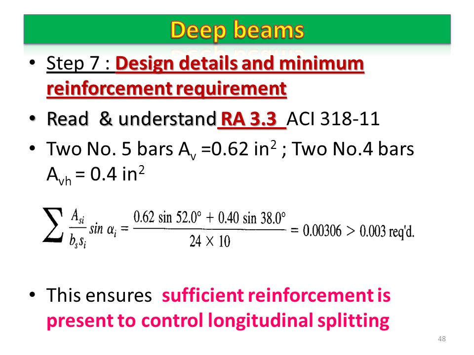 Beam Design Example Aci 318