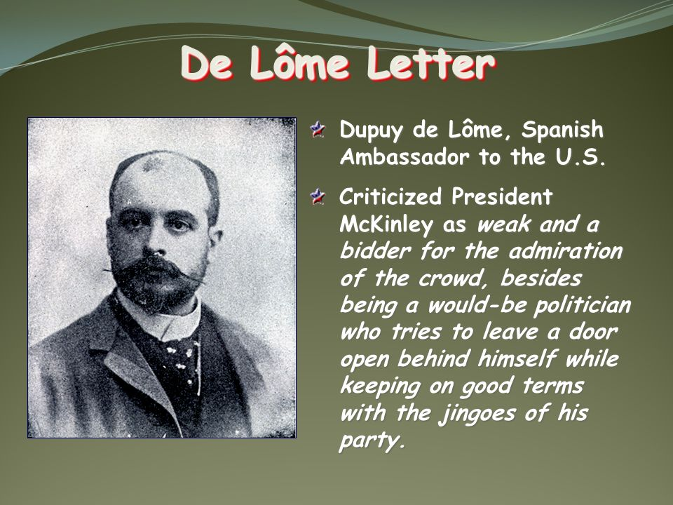 de lome letter chapter 17 imperialism the u s becomes a world power 4351