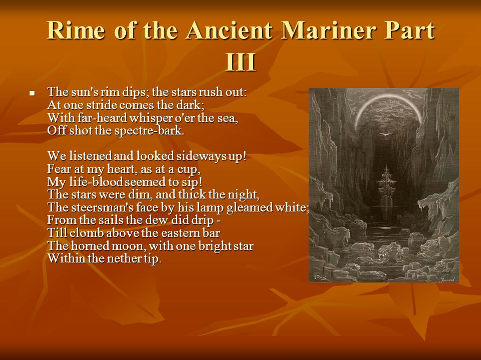 figurative language in the rime of the ancient mariner