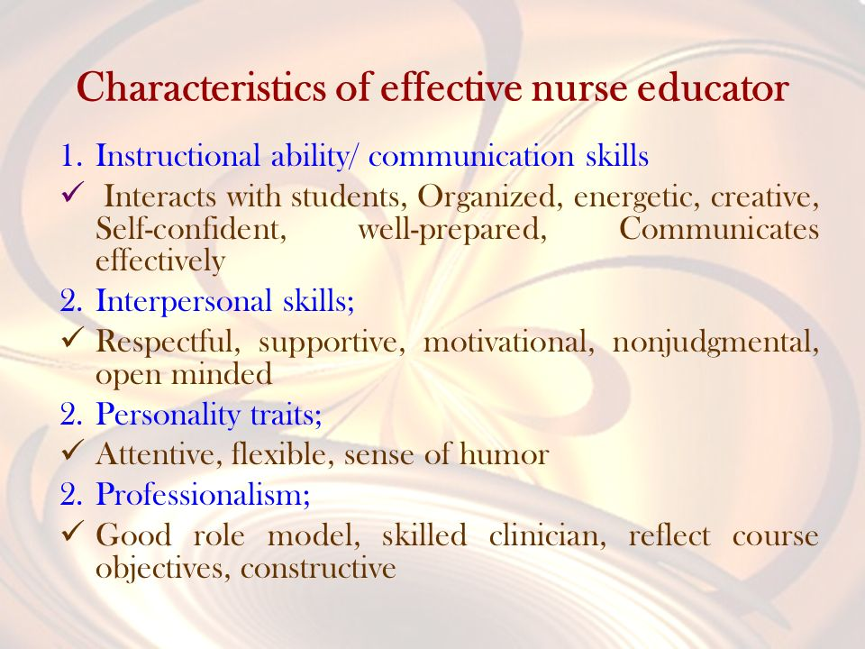 traits of a good nurse