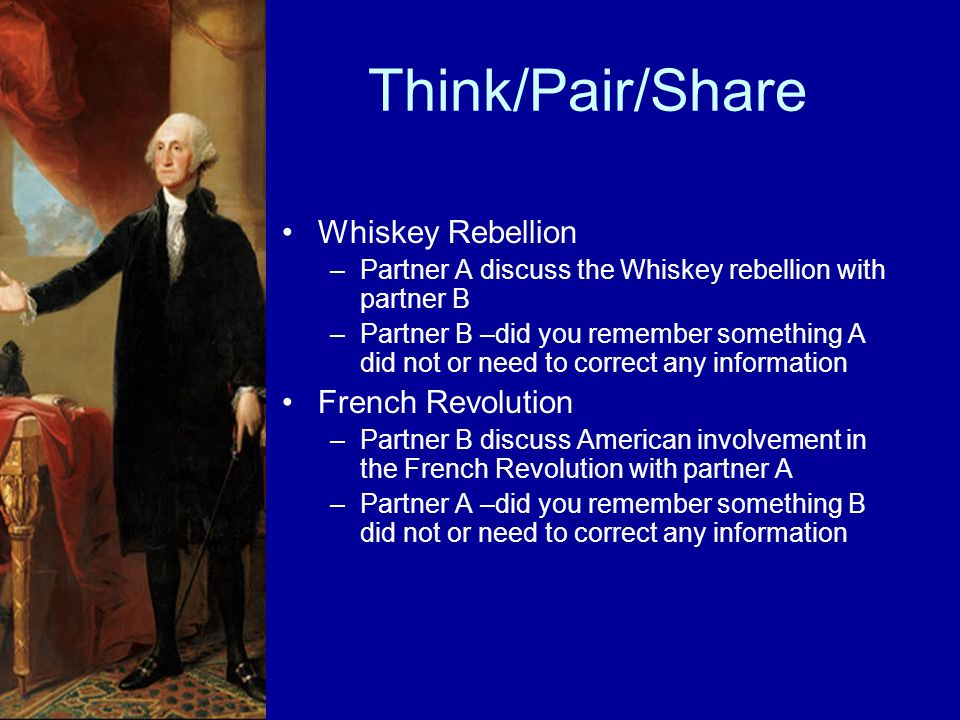 Think/Pair/Share Whiskey Rebellion French Revolution