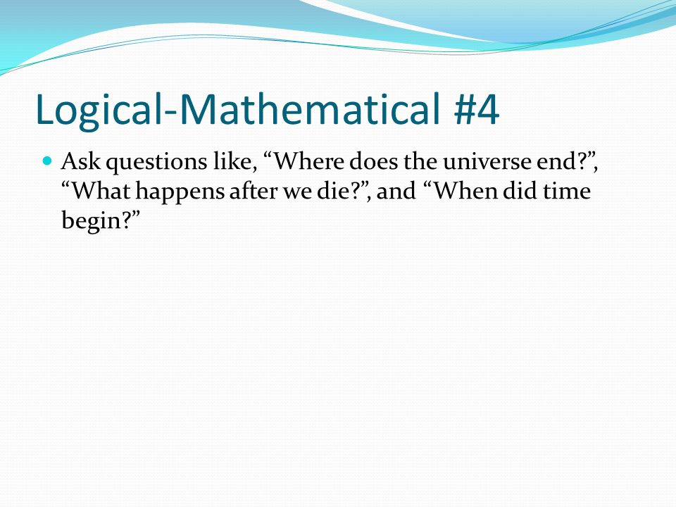 Logical-Mathematical #4