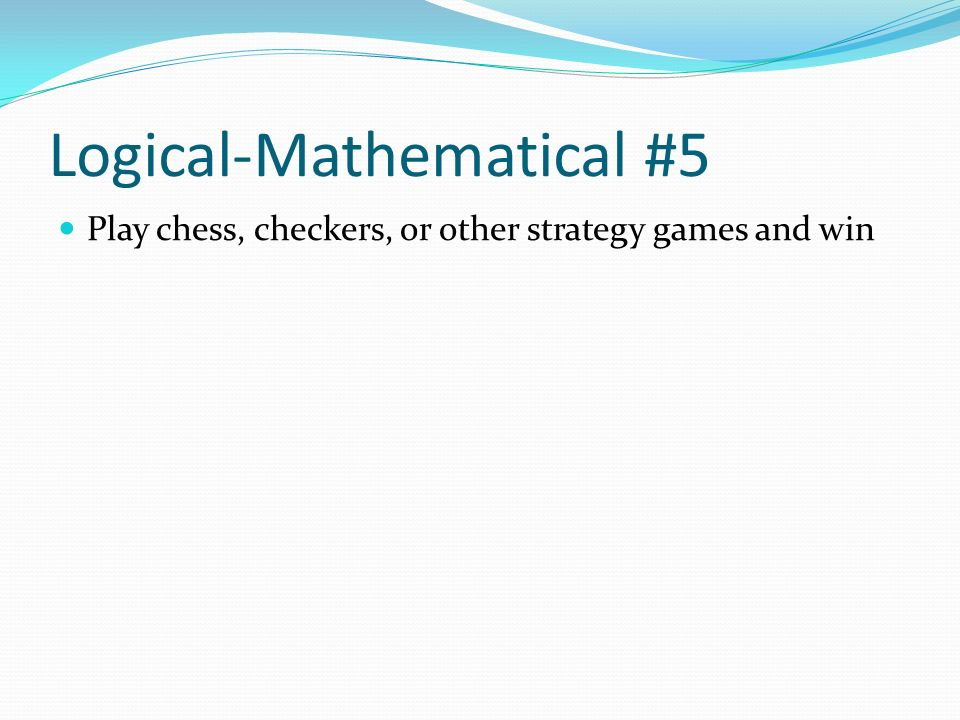 Logical-Mathematical #5