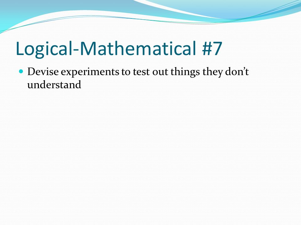 Logical-Mathematical #7