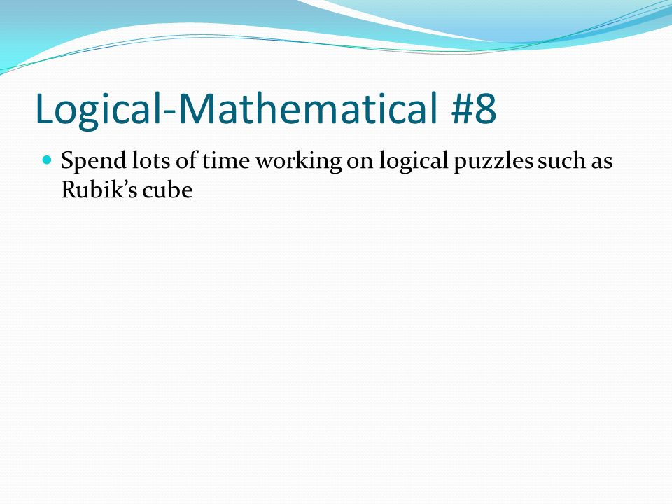Logical-Mathematical #8