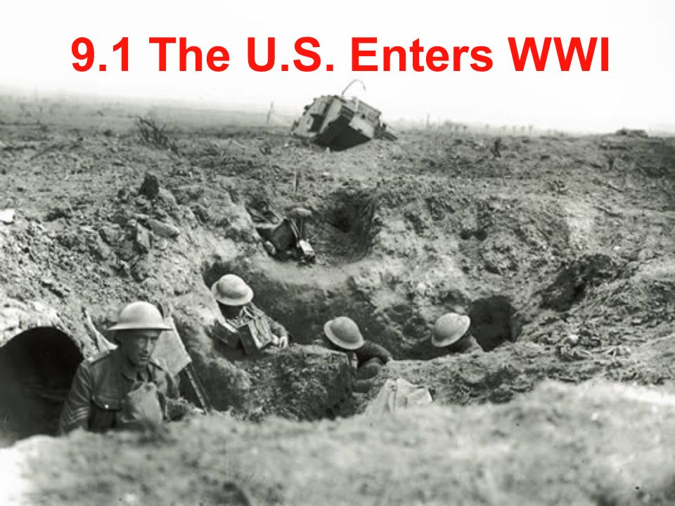 the us entered ww1