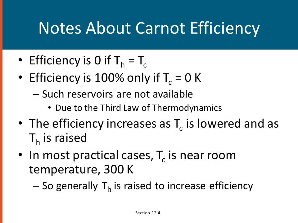 Notes About Carnot Efficiency