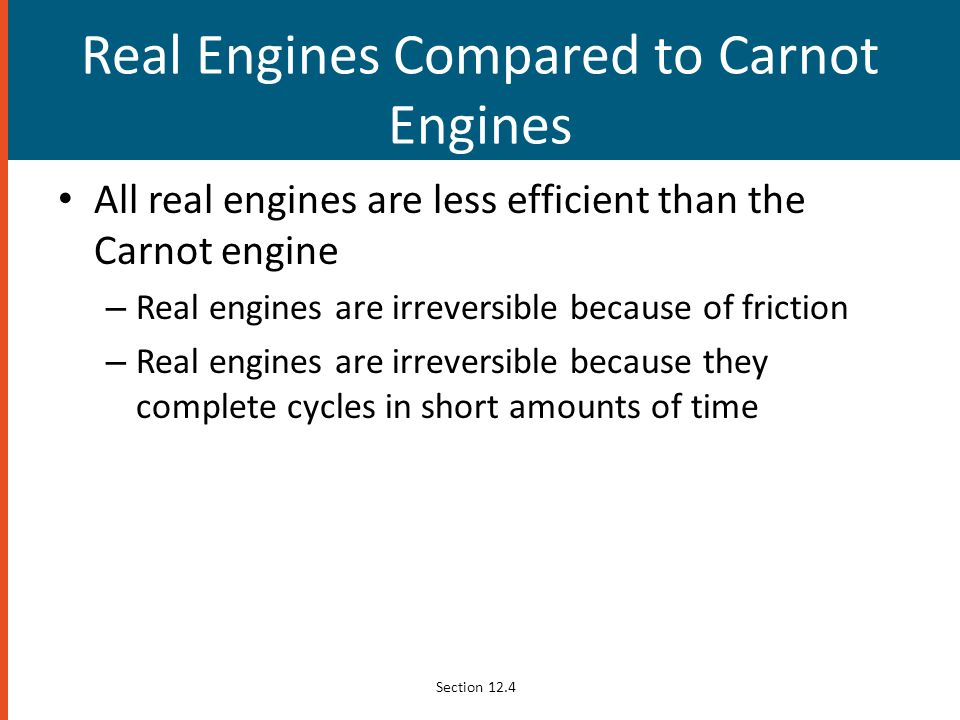 Real Engines Compared to Carnot Engines