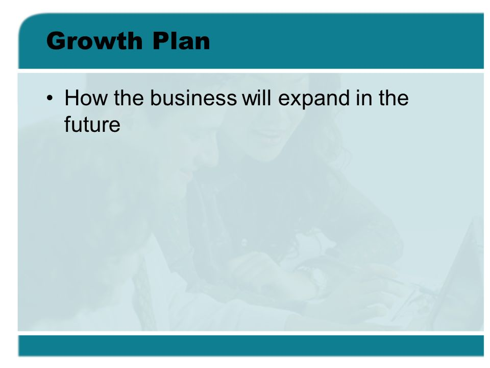 Growth Plan How the business will expand in the future