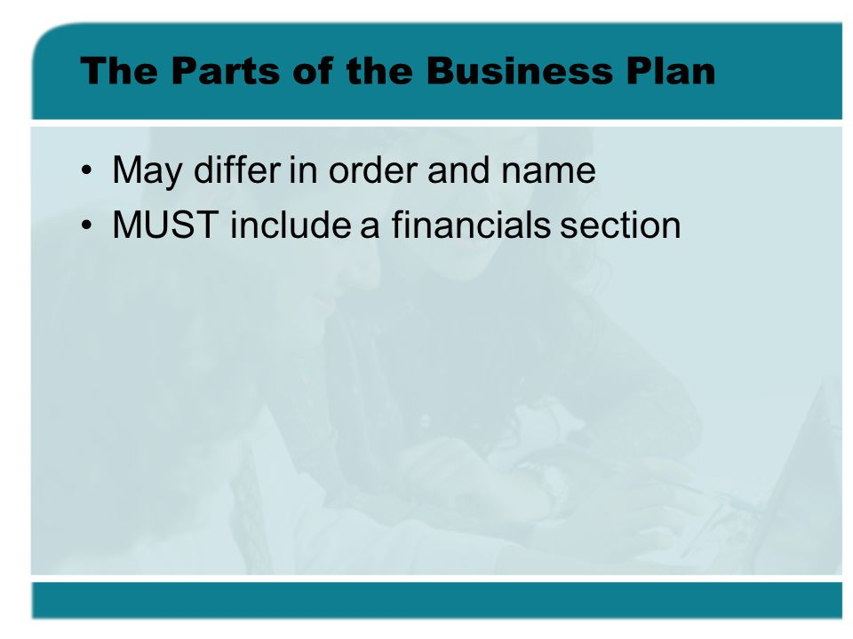 The Parts of the Business Plan