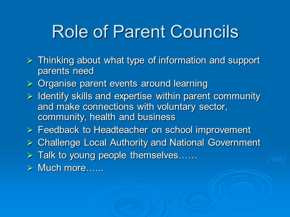 Role of Parent Councils