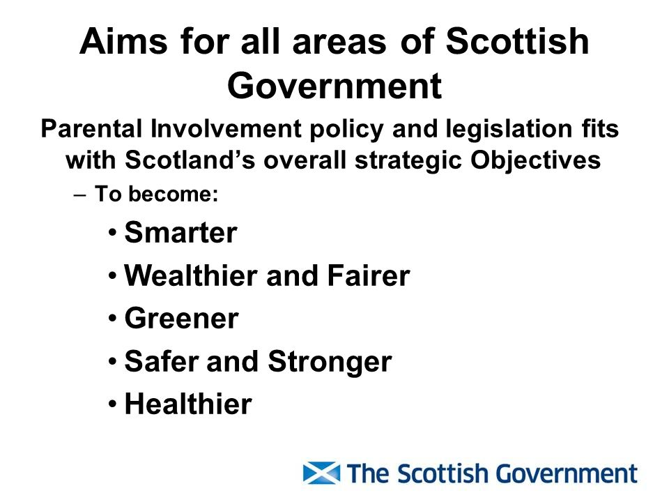 Aims for all areas of Scottish Government