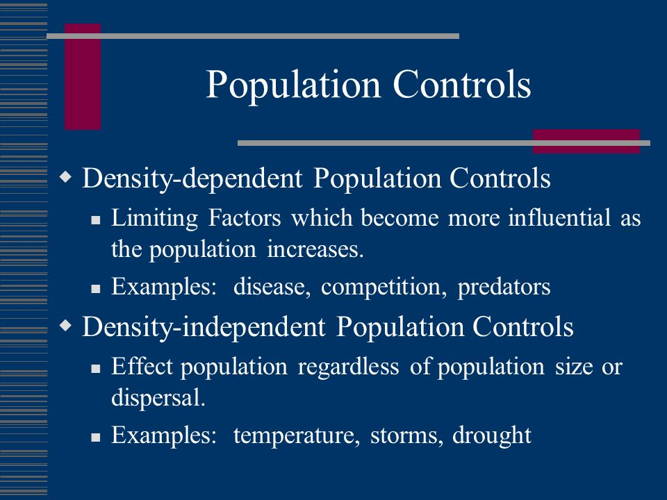 Population Dynamics The Change In The Size Density Dispersion And