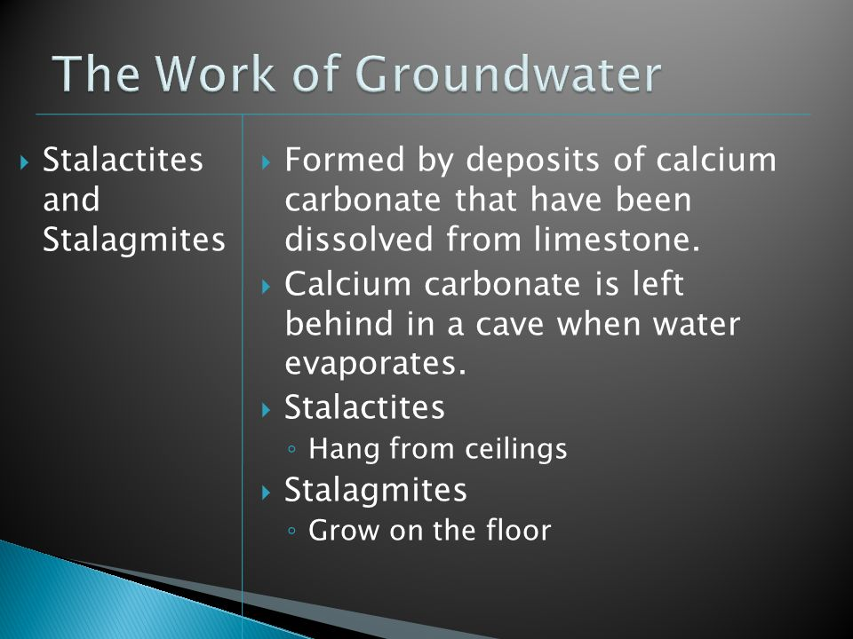 The Work of Groundwater