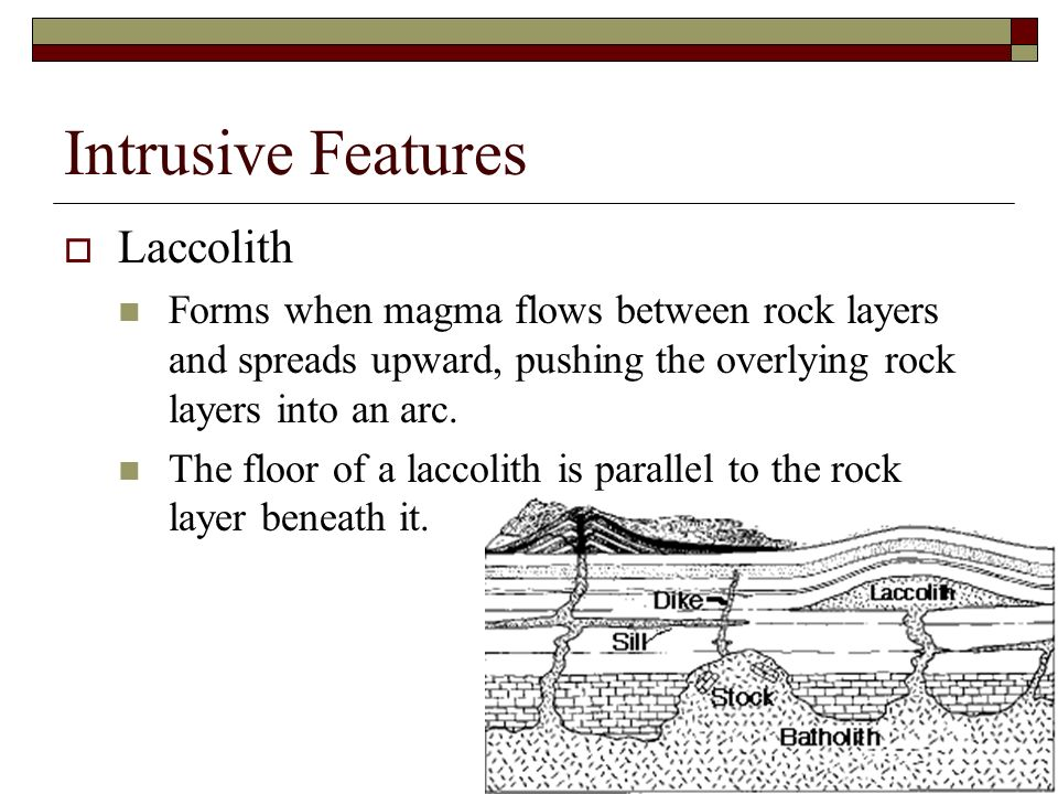 Intrusive Features Laccolith