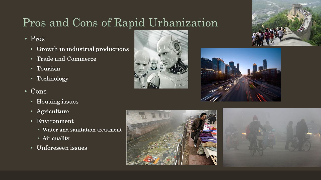 pros and cons of urbanization