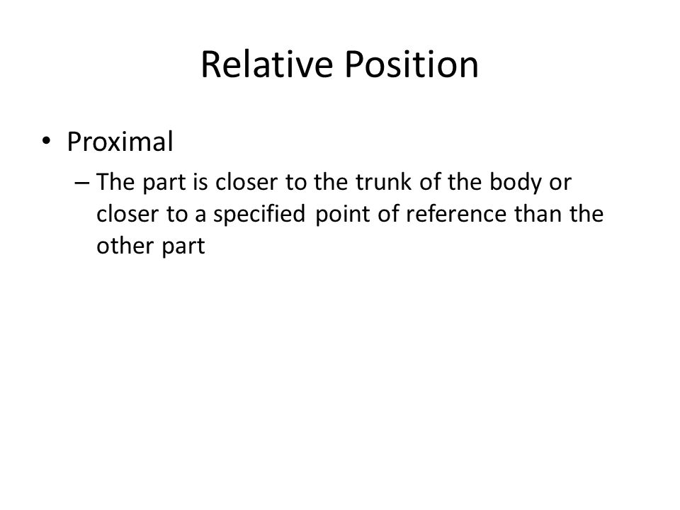 Relative Position Proximal