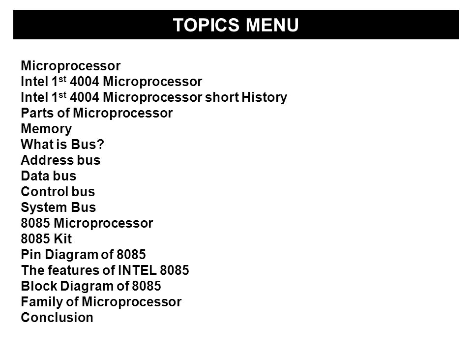 Microprocessors ion paul mihai dr in zdzisaw plkowski ppt download 2 topics ccuart Images