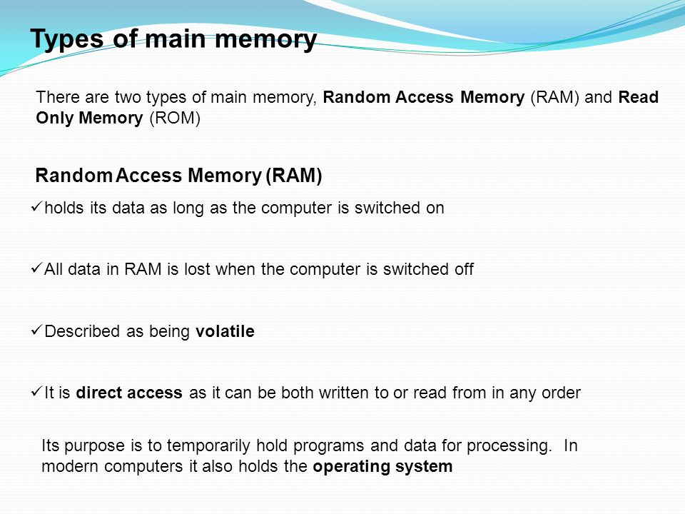 Lecture notes on ``memory'' (ppt slides).