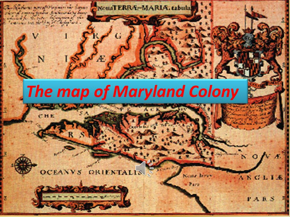 The map of Maryland Colony