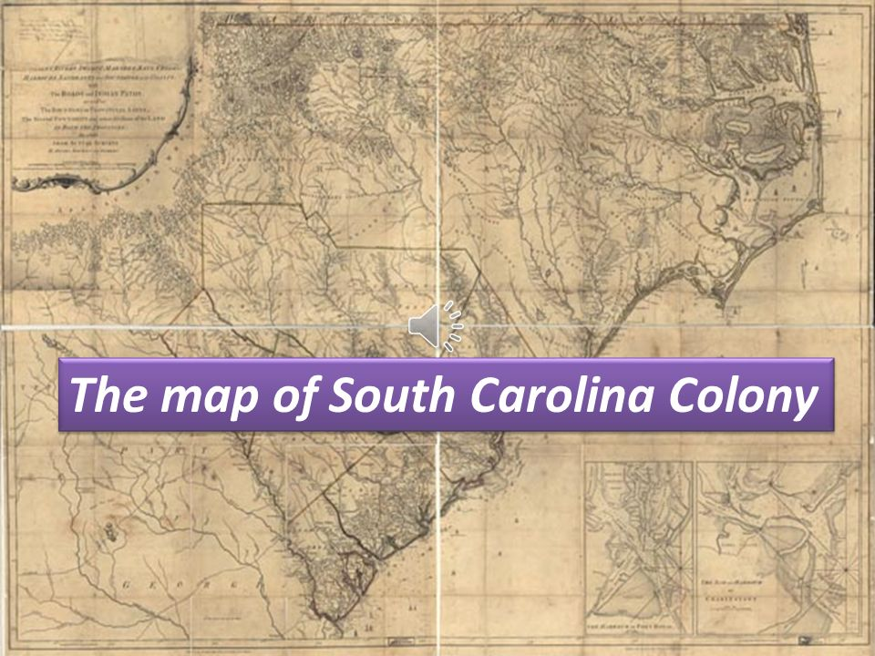 The map of South Carolina Colony