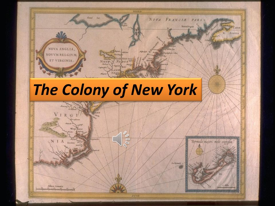 New York Colony The Colony of New York