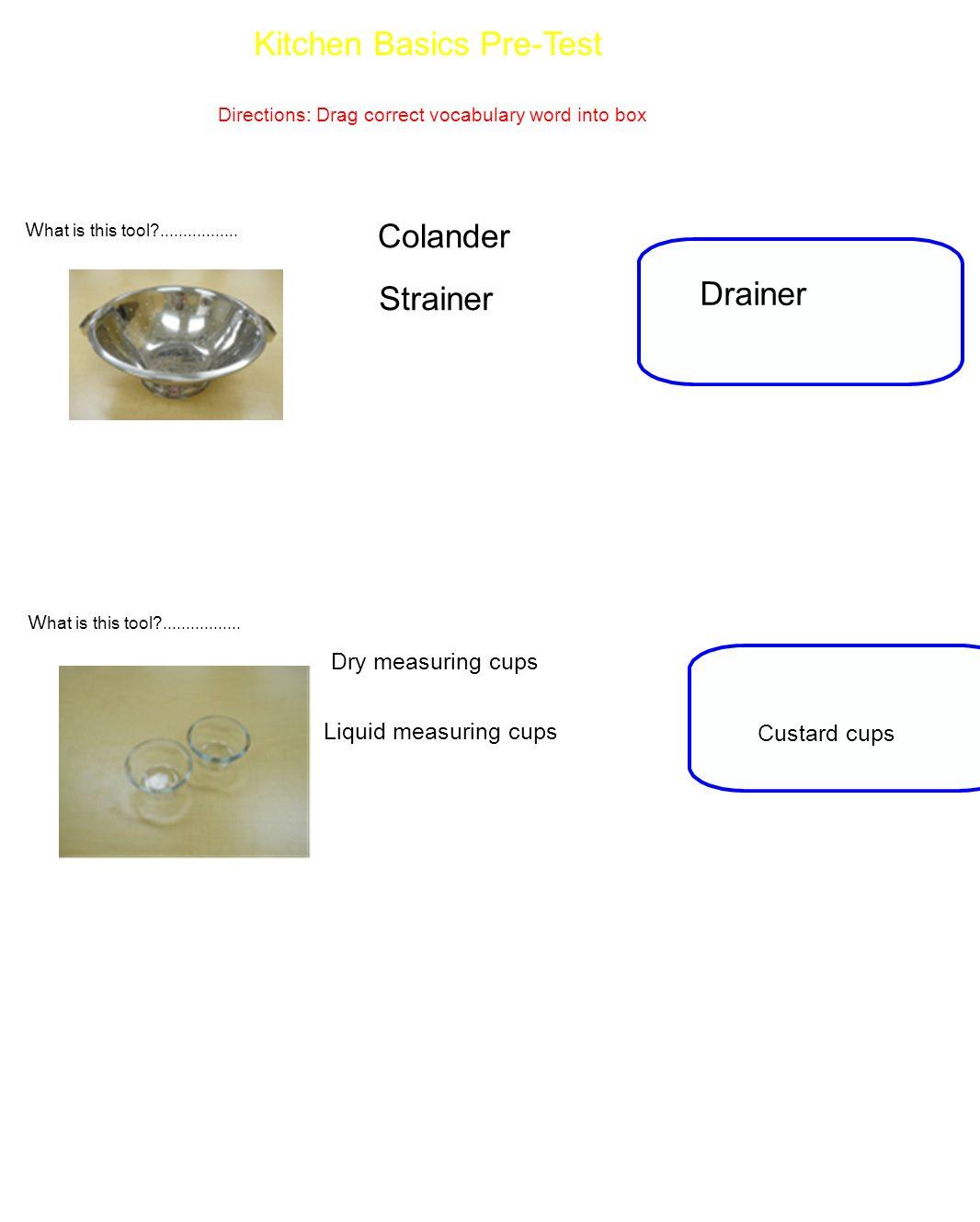 Kitchen Basics Pre-Test - ppt video online download
