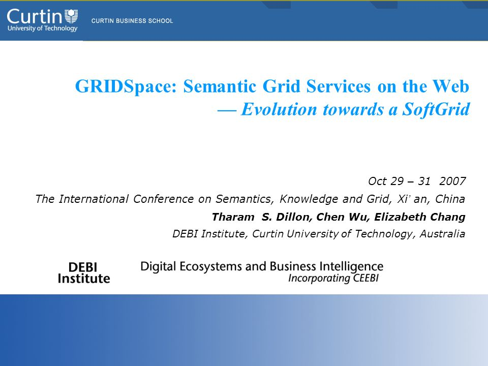 GRIDSpace: Semantic Grid Services on the Web — Evolution towards a SoftGrid