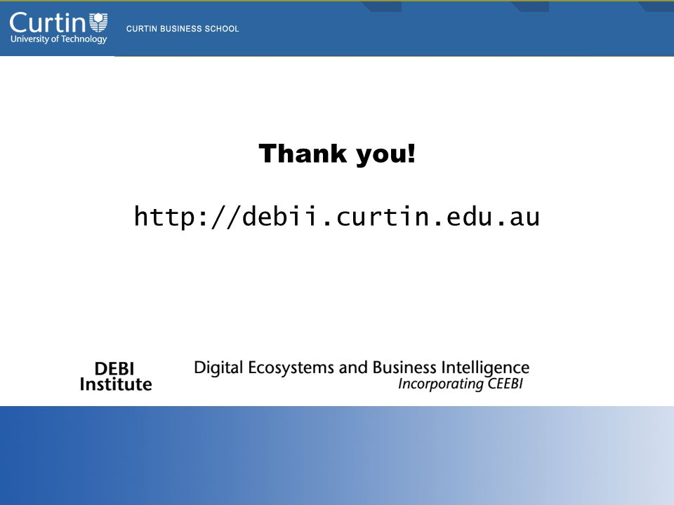 Thank you! http://debii.curtin.edu.au