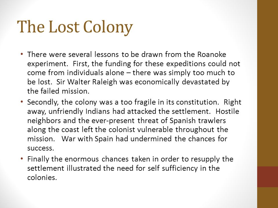 The english colonies englands settlement of north america 1607 the lost colony publicscrutiny Images