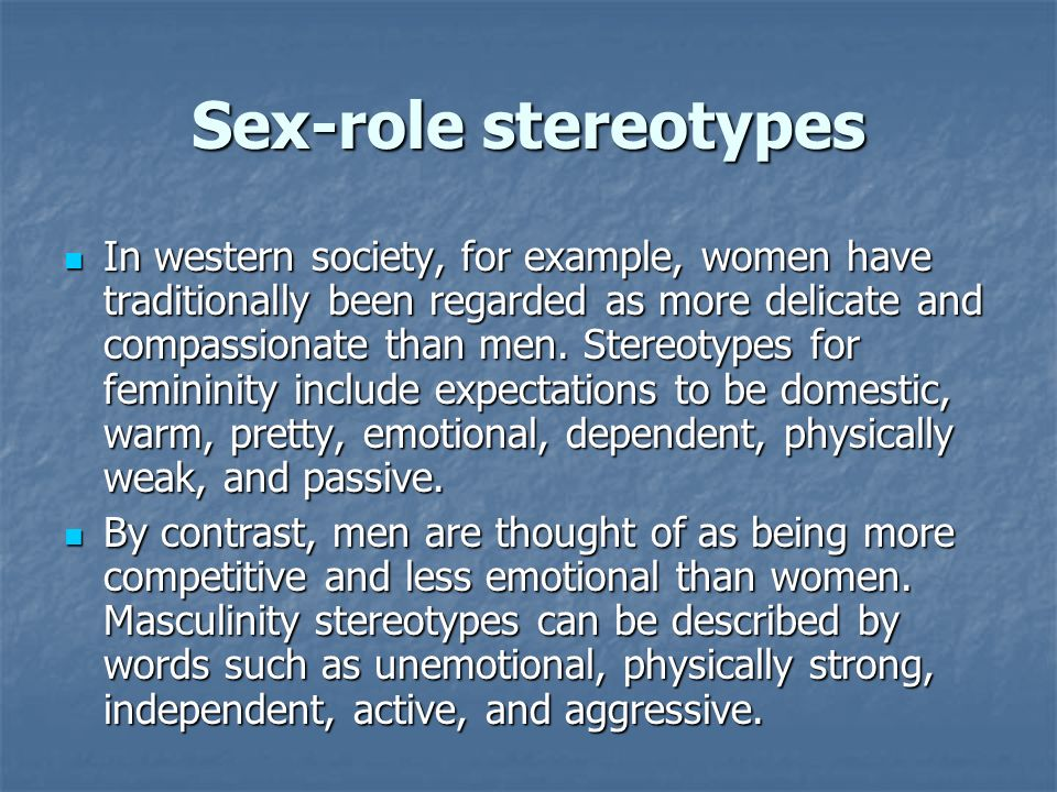Sex-role stereotypes