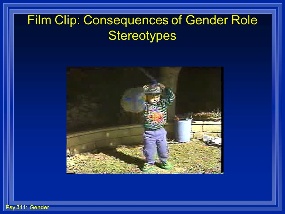 Film Clip: Consequences of Gender Role Stereotypes